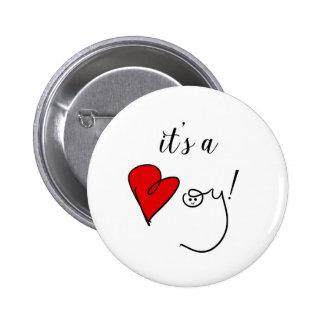 C'est un bouton de garçon badges