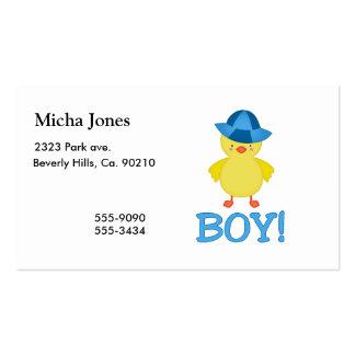 C'est un chapeau de bleu de Duckie de bébé Carte De Visite Standard