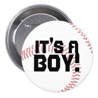 C'est un faire-part de naissance de base-ball de g badges avec agrafe