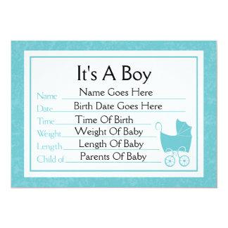 C'est un faire-part de naissance de garçon