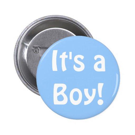 C'est un garçon ! badges avec agrafe