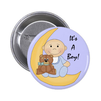C'est un garçon - bande dessinée mignonne de bébé badge rond 5 cm