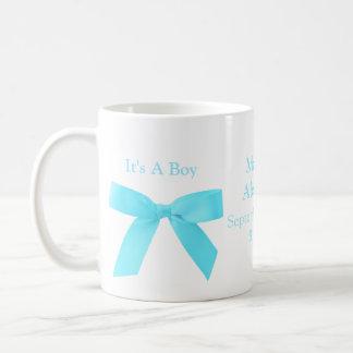 C'est un garçon bleu et blanc personnalisé mug blanc
