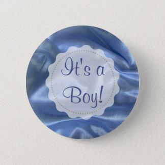 C'est un garçon, bouton bleu de faire-part de pin's