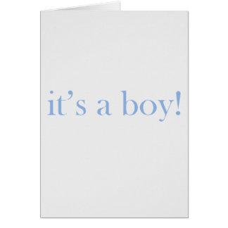 C'est un garçon ! carte de vœux
