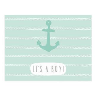 C'est un garçon, célébration de bébé de naissance, carte postale