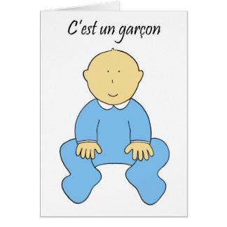 """""""C'est un garçon"""" dans l'ONU français et c'est Carte De Vœux"""