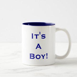 C'est un garçon ! mug bicolore