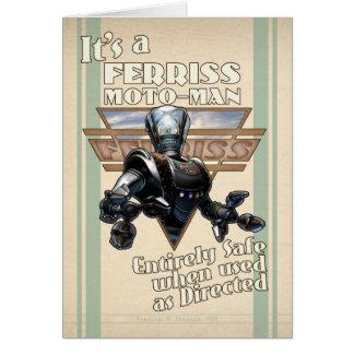 C'est une carte de voeux de Moto-Man de Ferriss