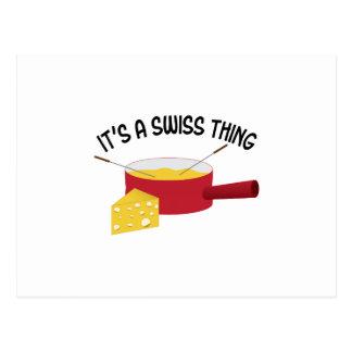 C'est une chose suisse carte postale
