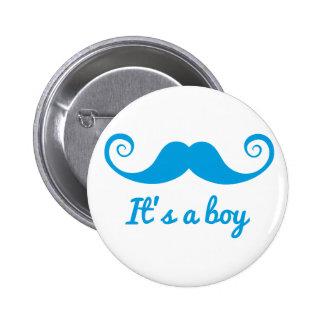 c'est une conception de garçon avec la moustache b pin's