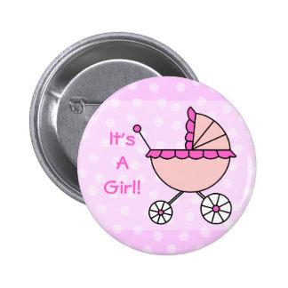 C'est une fille ! Voiture d'enfant rose Badges