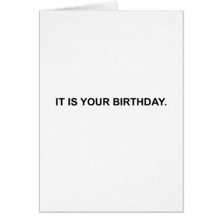 C'est votre anniversaire. Carte