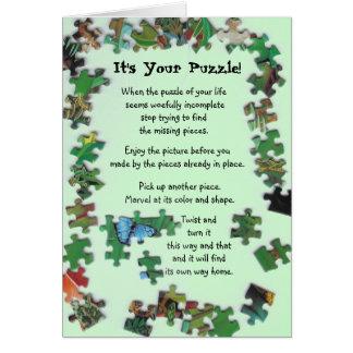 C'est votre puzzle ! Carte avec des morceaux