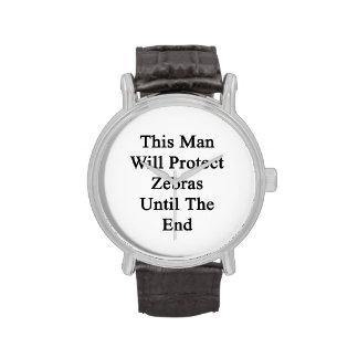 Cet homme protégera des zèbres jusqu'à l'extrémité montres bracelet