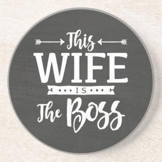 Cette épouse est le patron dessous de verres