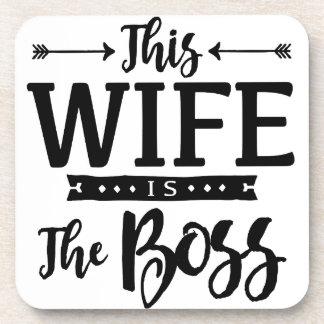 Cette épouse est le patron sous-bock