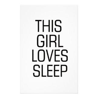 Cette fille aime le sommeil papeterie
