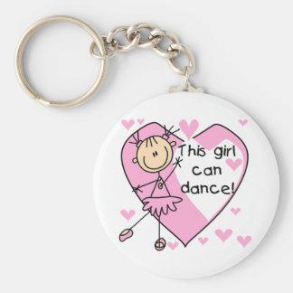 Cette fille peut danser le T-shirts et les cadeaux Porte-clé Rond