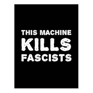 Cette machine tue des fascistes carte postale