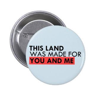 Cette terre est votre terre badge