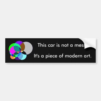 Cette voiture est art moderne autocollant pour voiture