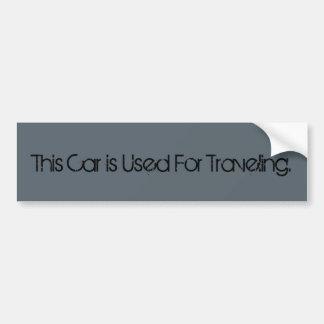 Cette voiture est utilisée pour le déplacement autocollant de voiture