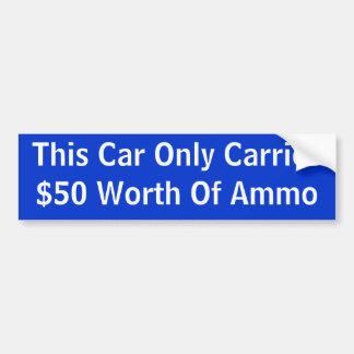 Cette voiture porte seulement la valeur $50 des mu autocollant de voiture