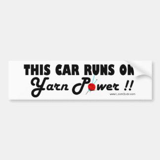 Cette voiture roule sur la puissance de fil ! ! Ad Autocollant De Voiture