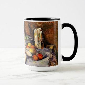 Cezanne - la vie, courrier, bouteille, tasse et