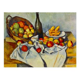 Cezanne le panier de la carte postale de pommes