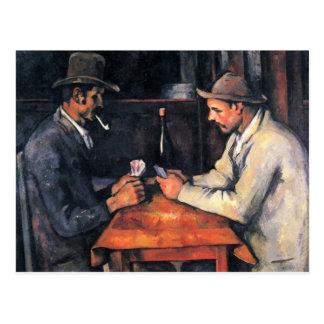 Cezanne - les joueurs de carte (2) carte postale