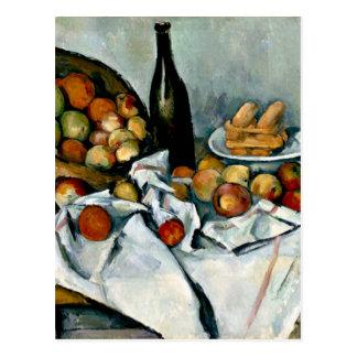 Cezanne - panier des pommes carte postale