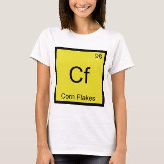 Cf - céréale T de symbole d'élément de chimie de T-shirt