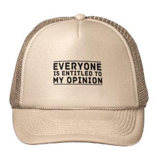 Chacun a droit à mon avis casquette