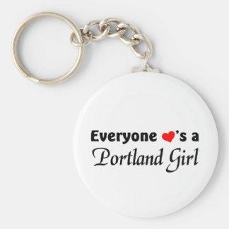Chacun aime une fille de Portland Porte-clé Rond