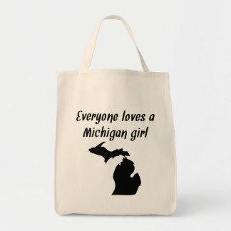 Chacun aime une fille du Michigan Sac En Toile Épicerie