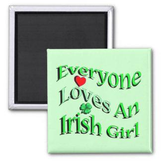 Chacun aime une fille irlandaise magnet carré