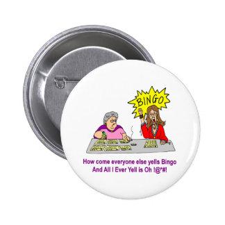 Chacun hurle autrement le bingo-test badges