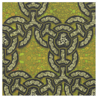 Chaîne celtique de dragon en or foncé tissu