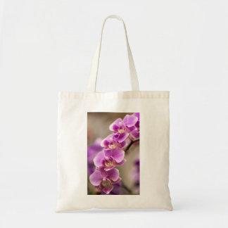 Chaîne de fleur rose-foncé d'orchidée de sac de toile