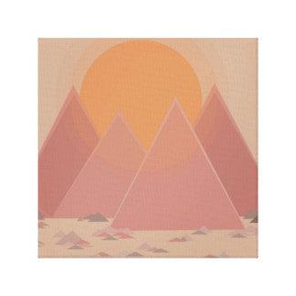 Chaîne de montagne dans le paysage rocheux dans la toiles