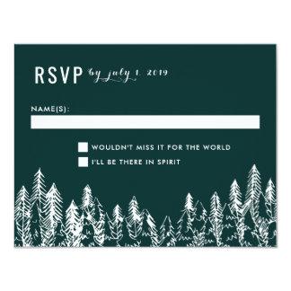 Chaîne de montagne épousant la carte de RSVP