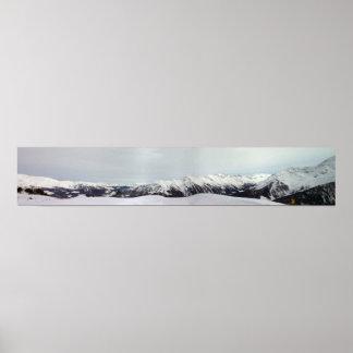 Chaîne de montagne poster