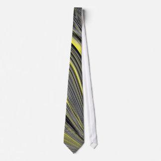 Chaîne jaune abstraite cravate avec motifs