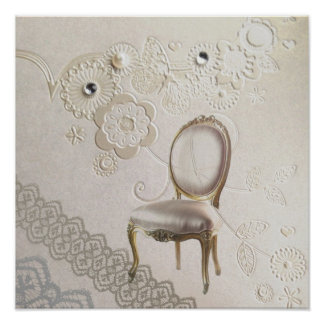chaise rococo Paris de lustre girly romantique Posters