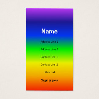 Chakra colore le carte de visite d'arc-en-ciel