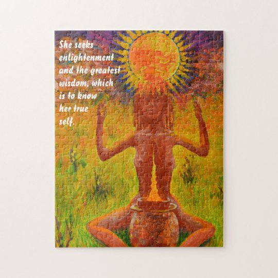 Chaman méditant - puzzle d'humeur