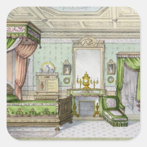 Chambre coucher dans le style de la renaissance sticker for Chambre 9 metre carre