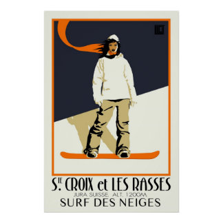 Chambre. Croix et Les Rasses Posters